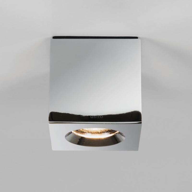 Astro Kos IP65 LED Square Bathroom Downlight Polished Chrome