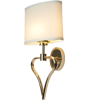 Elstead Falmouth Bathroom Wall Light, French Gold Finish - BATH/FALMOUTH FG
