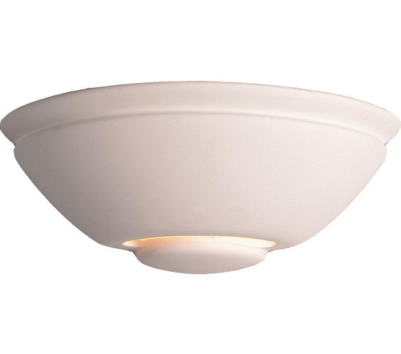 Firstlight Ceramic Wall Light, Unglazed Finish - C307UN None