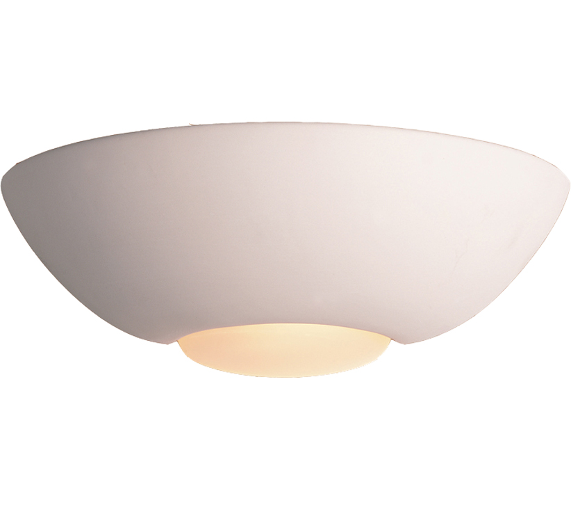 Firstlight Ceramic Wall Light, Unglazed With Acid White Glass - C315UN None