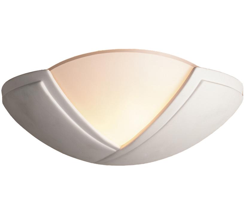 9d0205830871 Firstlight Ceramic Wall Light, Unglazed With Acid White Glass - C322UN
