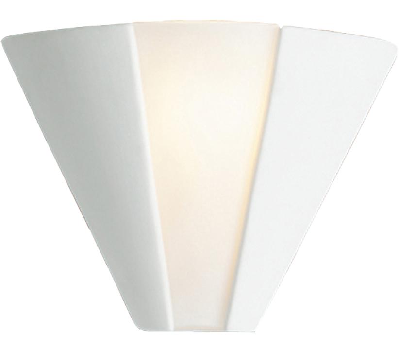 b2d4dda157fb Firstlight Ceramic Wall Light, Unglazed With Acid White Glass - C332UN