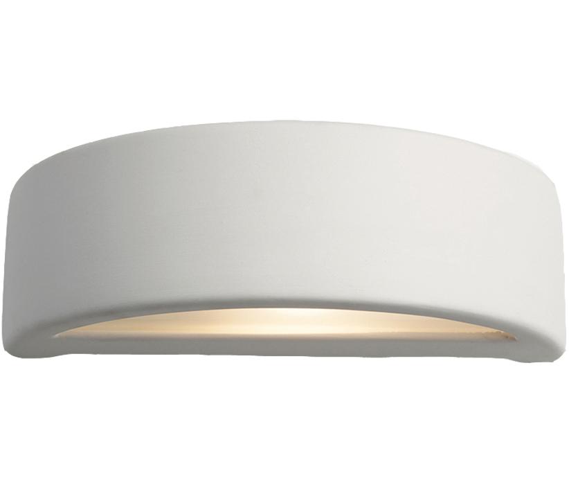56c8475916fc Firstlight Ceramic Wall Light, Unglazed With Acid White Glass - C346UN