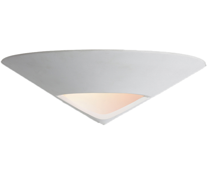 Firstlight Ceramic Wall Light, Unglazed With Acid White Glass - C350UN None