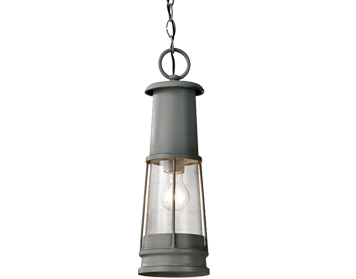 Elstead Feiss Chelsea Harbor 1 Light Chain Lantern, Storm Cloud - FE/CHELSEAHBR8