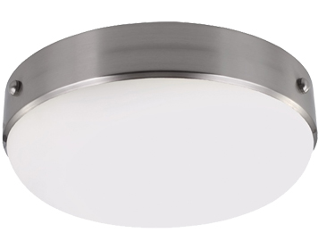 Elstead Feiss Cadence Flush Ceiling Light, Polished Nickel/Brushed Steel - FE/CADENCE/F BS