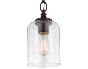 Elstead Feiss Hounslow Ceiling Pendant, Oil Rubbed Bronze - FE/HOUNSLOW/PORB
