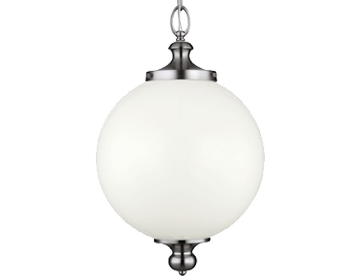Elstead Feiss Parkman Large Pendant, Polished Nickel - FE/PARKMAN/PL PN