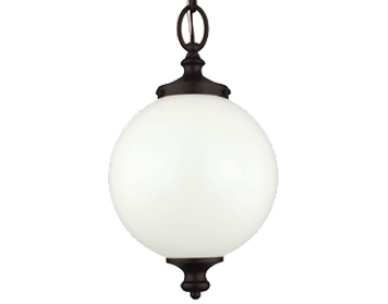 Elstead Feiss Parkman Small Pendant, Oil Rubbed Bronze - FE/PARKMAN/PS OB