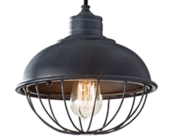 Elstead Urban Renewal 1 Light Pendant, Antique Forged Iron - FE/URBANRWL/P/B