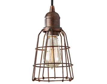 Elstead Urban Renewal 1 Light Mini Pendant, Parisian Bronze - FE/URBANRWL/P/D