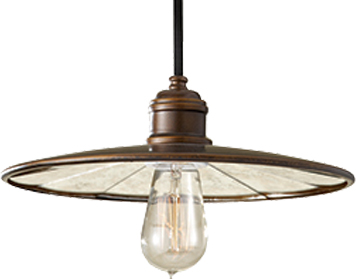 Elstead Urban Renewal 1 Light Mini Pendant, Astral Bronze - FE/URBANRWL/P/E