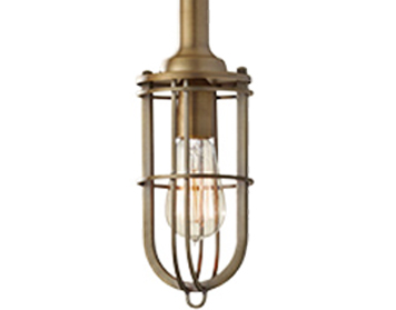 Elstead Urban Renewal 1 Light Mini Pendant, Dark Antique Brass - FE/URBANRWL/P/J
