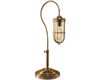Elstead Urban Renewal 1 Light Table Lamp, Dark Antique Brass Finish - FE/URBANRWL/TL1