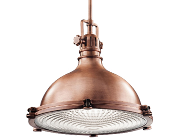Elstead Kichler Hatteras Bay Extra Large Pendant, Antique Copper - KL/HATTBAY/XLACO