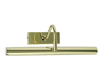 Oaks Lighting LED 3500K Picture Light, Polished Brass Finish - PL LED PB WH