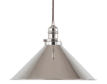 Elstead Provence 1 Light Pendant, Polished Nickel - PV/SPPN