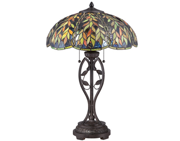 Elstead Quoizel Belle Tiffany Table Lamp, Imperial Bronze - QZ/BELLE/TL