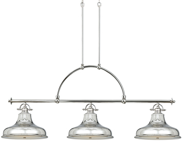 Elstead Quoizel Emery 3 Light Island Light, Imperial Silver - QZ/EMERY3PIS