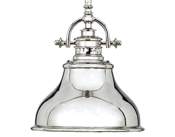 Elstead Quoizel Emery 1 Light Mini Pendant, Imperial Silver - QZ/EMERY/P/SIS