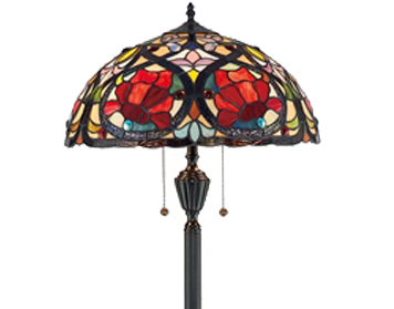 Elstead Quoizel Larissa Floor Lamp, Tiffany Glass - QZ/LARISSA/FL