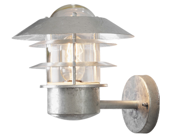 Konstsmide Modena 1 Light Outdoor Wall Light, Galvanised Steel Finish - SALE-7303-320
